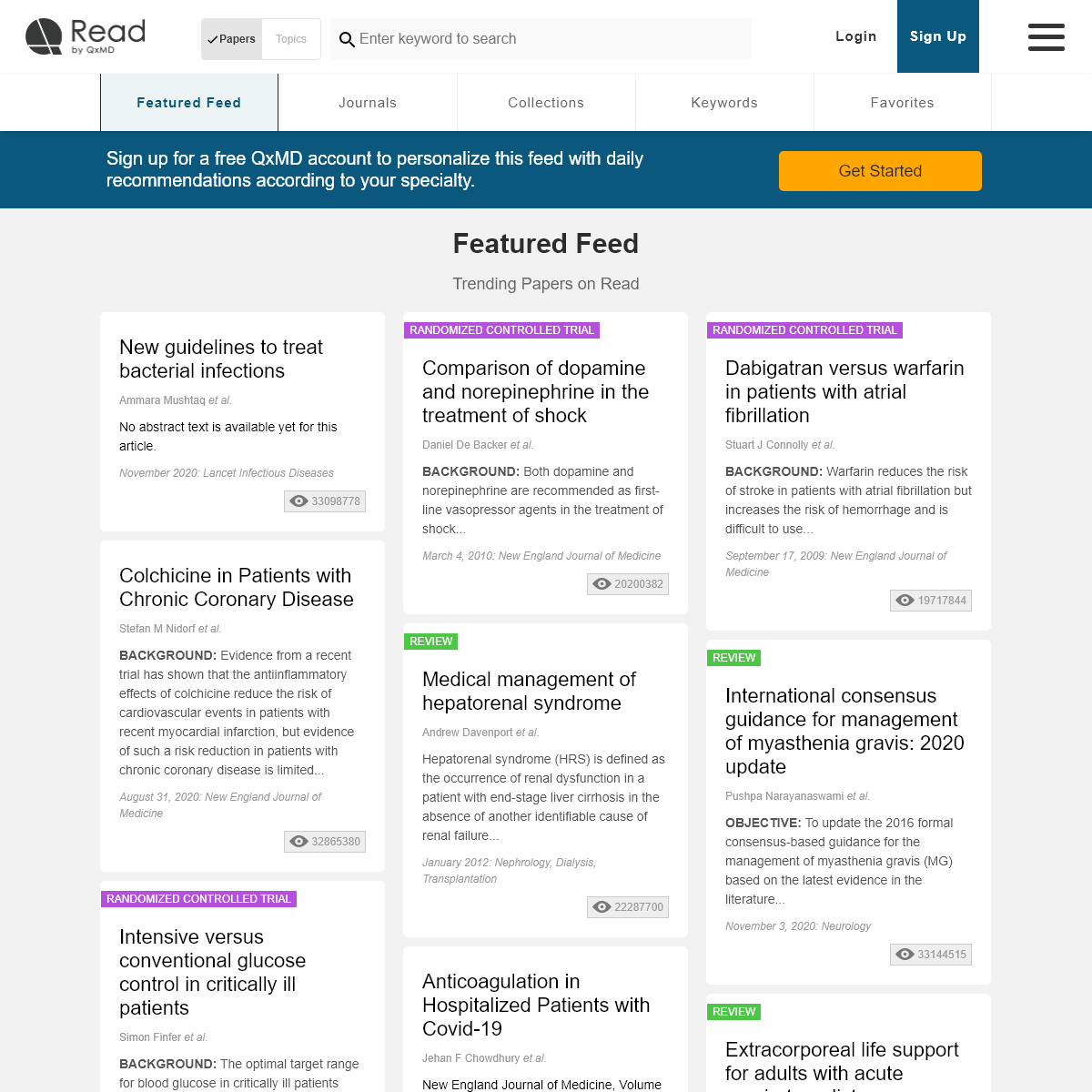Featured Papers - Read by QxMD