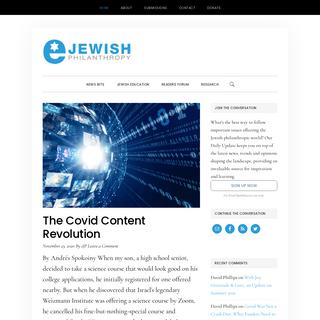 eJewish Philanthropy — Your Jewish Philanthropy Resource