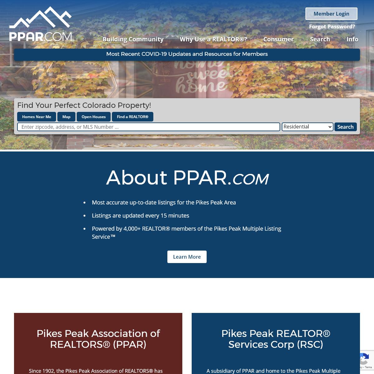 Pikes Peak Association of Realtors® (PPAR) - Pikes Peak Multiple Listing Service™ (MLS)