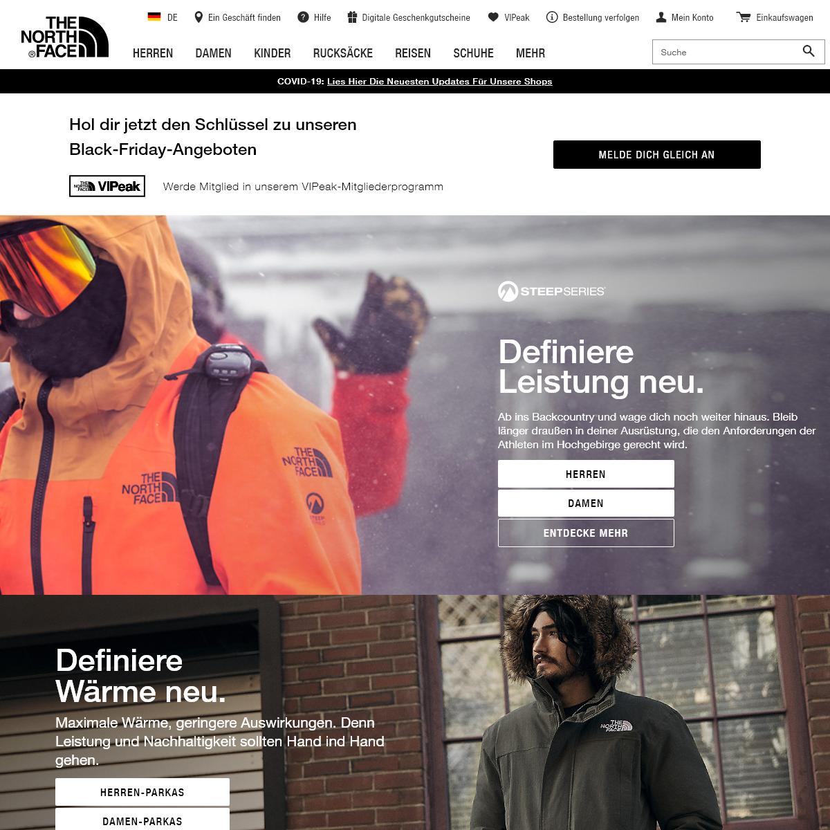 The North Face - Outdoorbekleidung, Rucksäcke & Schuhe