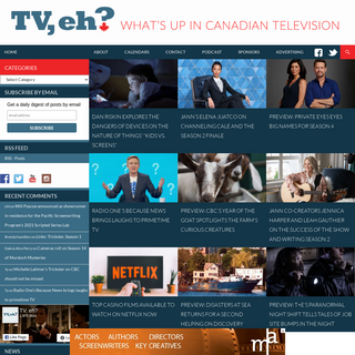 TV, eh- - What`s up in Canadian television
