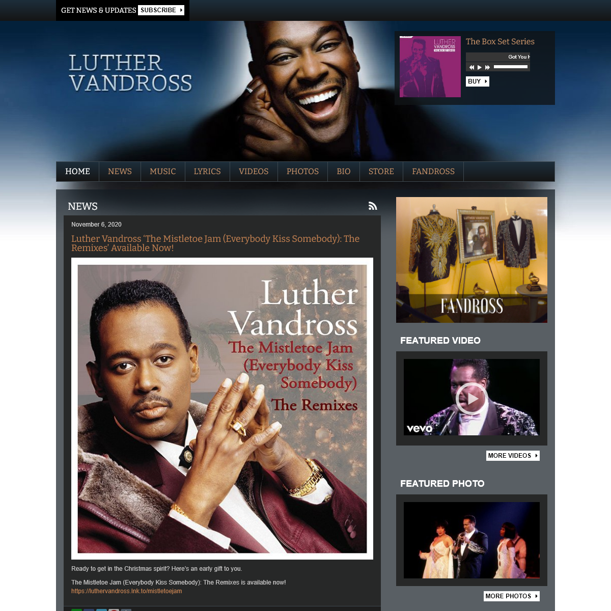 Home - Official Luther Vandross Site