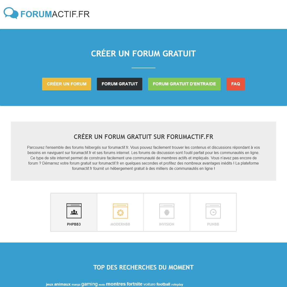 Créer un forum - forumactif.fr