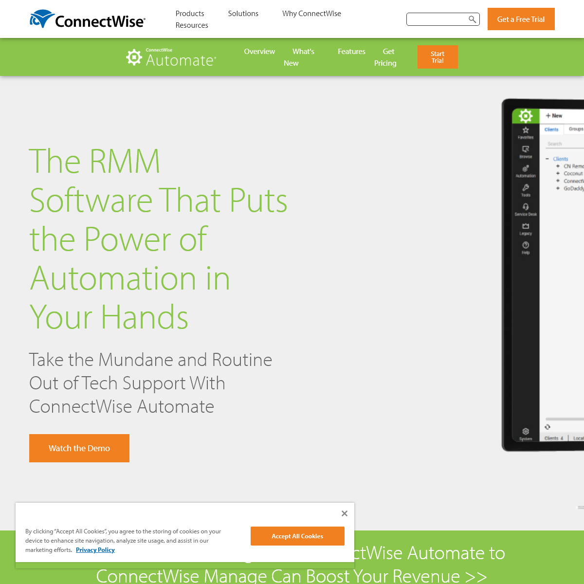 Remote Monitoring and Management (RMM) Software - ConnectWise Automate