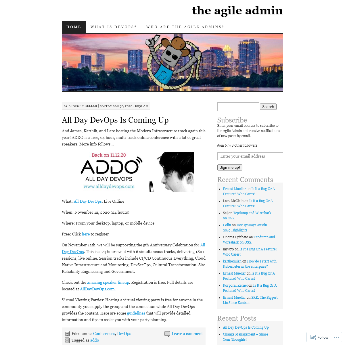the agile admin - thoughts on agile web operations and devops by @ernestmueller, @wickett, @iteration1 and @bproverb