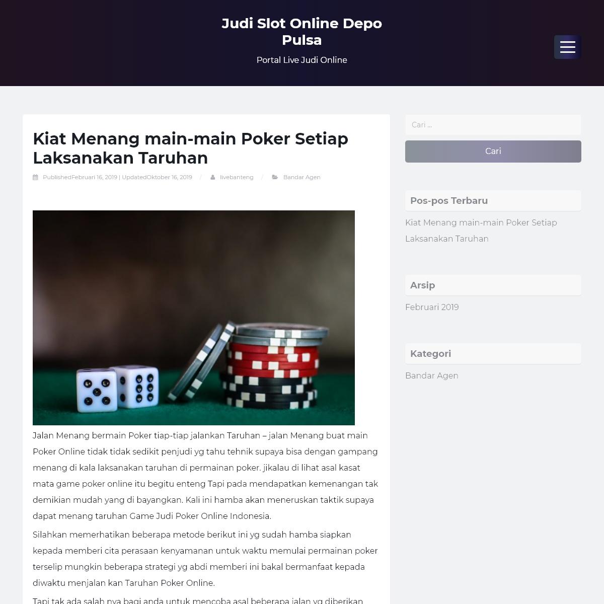 Judi Slot Online Depo Pulsa - Portal Live Judi Online