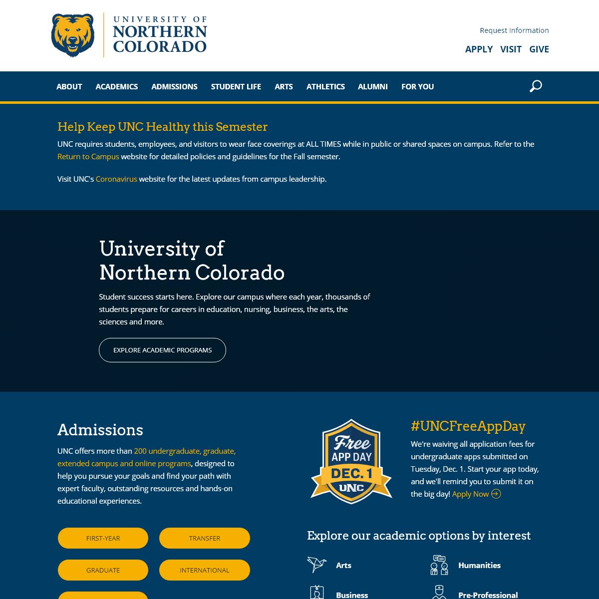University of Northern Colorado - Greeley Colorado