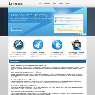 iPhone Data Recovery & iOS Maintenance Utilities - Fireebok