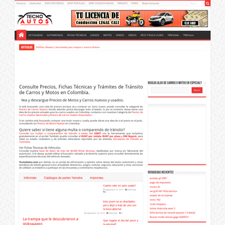 Precios, Fichas Técnicas y Consulta de Trámites de Carros y Motos en Colombia-TecnoAutos.com
