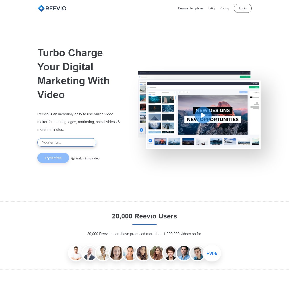 Reevio - Online Video Maker - Video Editor - Video Creator