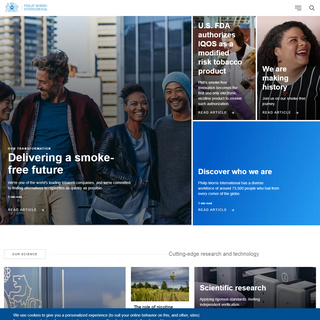 Philip Morris International - Delivering a Smoke-Free Future