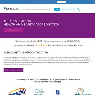 Alcumus SafeContractor - Contractor Accreditation