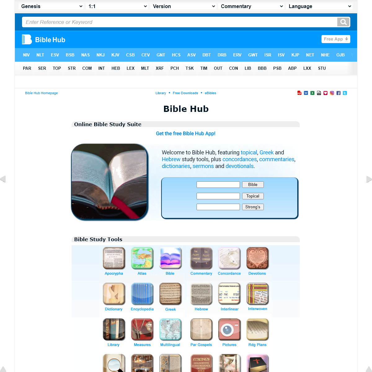 Bible Hub- Search, Read, Study the Bible in Many Languages