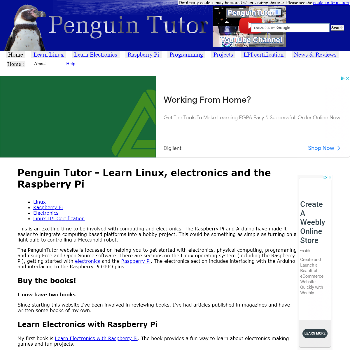 PenguinTutor - Open source software and hardware tutorials, Raspberry Pi hints and tips, learn electronics and LPIC practice exa
