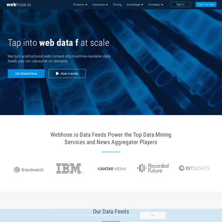 Tap Into Web Content at Scale - Crawled Web Data - Webhose