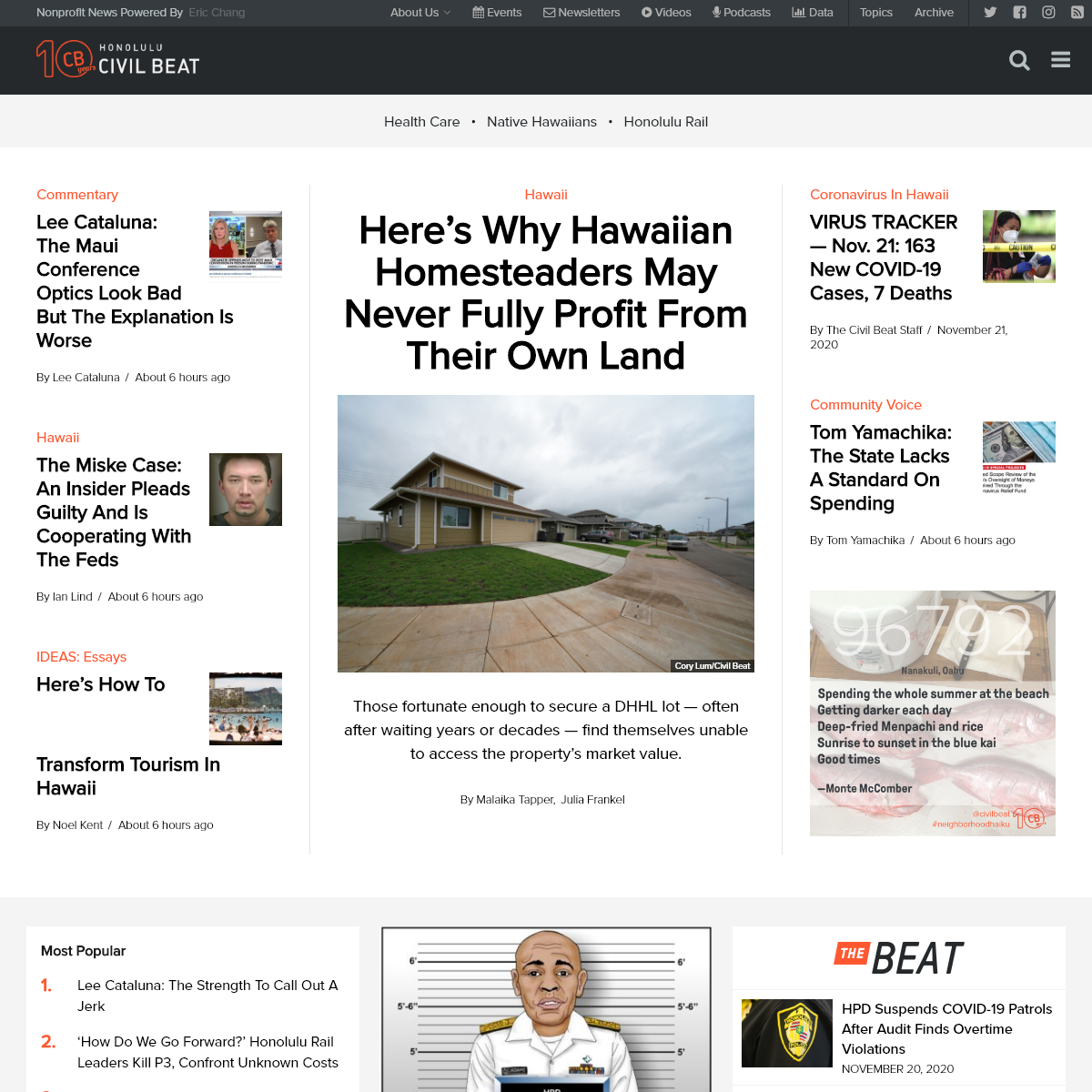 Homepage - Honolulu Civil Beat