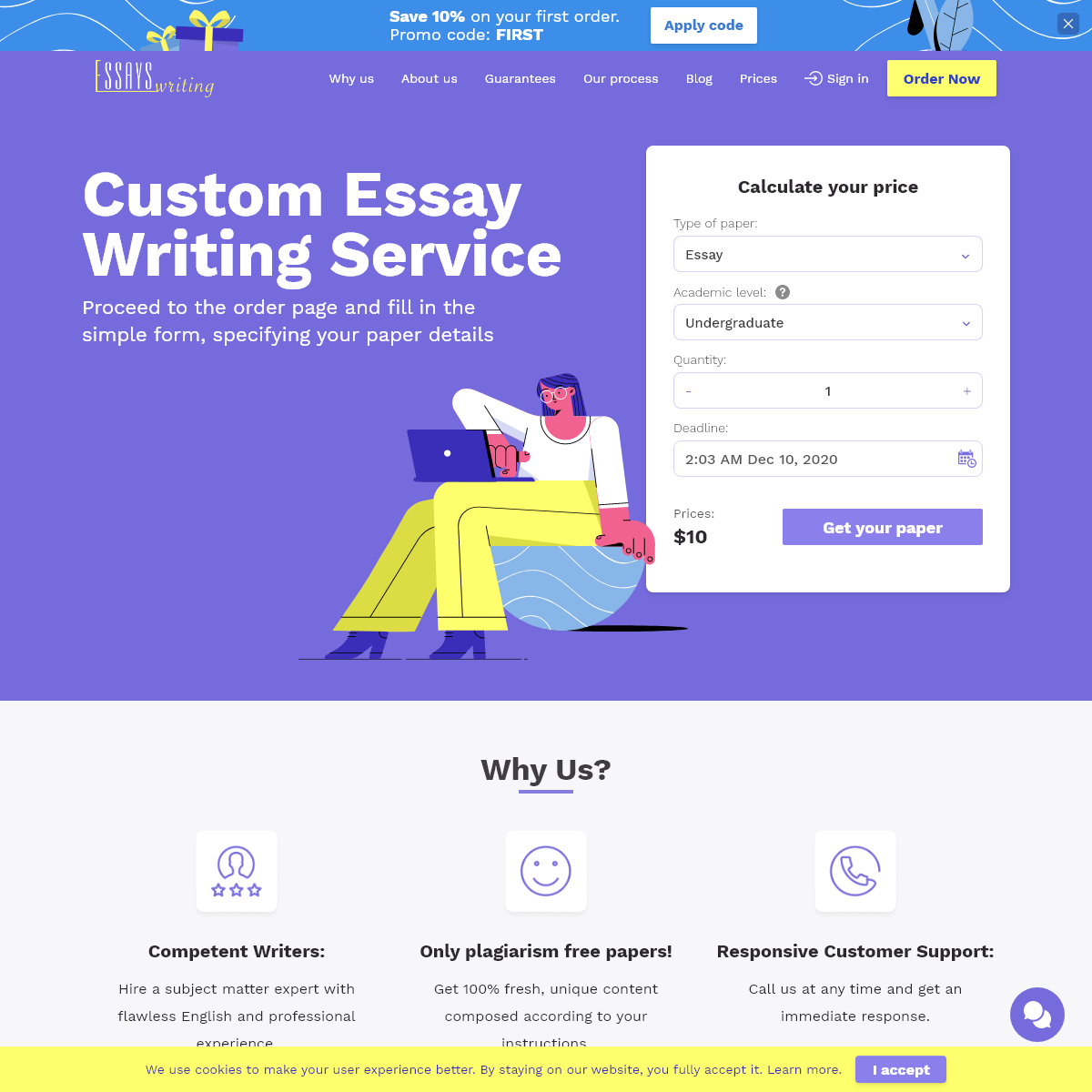 Essay Writing Service- Fast and Efficient Help with Essays Writing