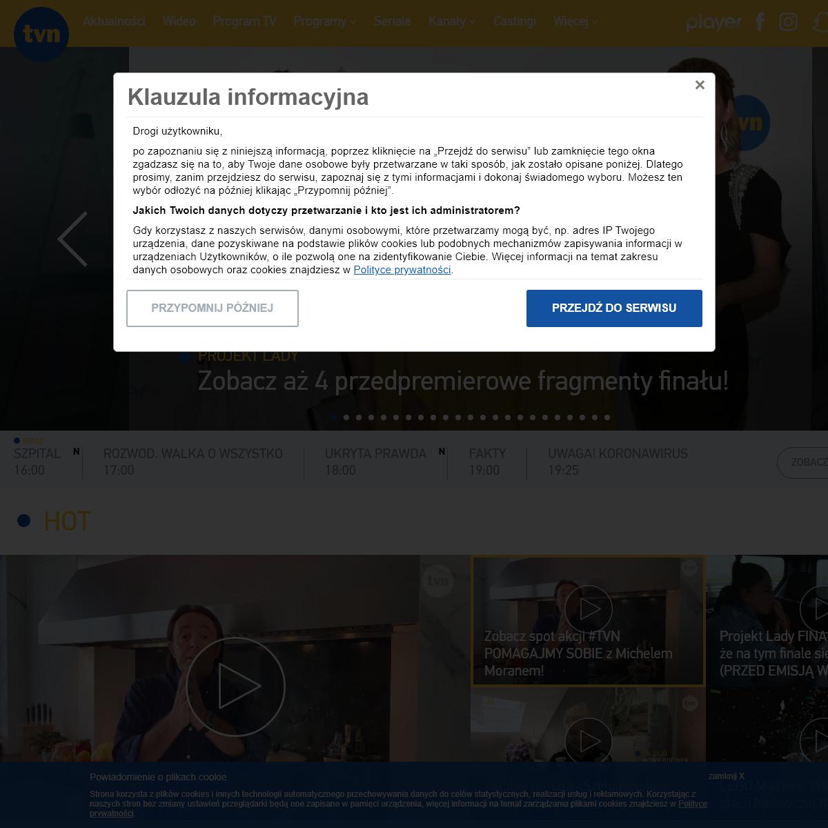 TVN online - Telewizja, gwiazdy, show-biznes, rozrywka, seriale.