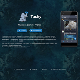 Tusky - Mastodon client for Android