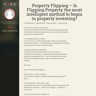 Property Flipping – Is Flipping Property the most intelligent method to begin in property investing- - Real Estate Property Fl