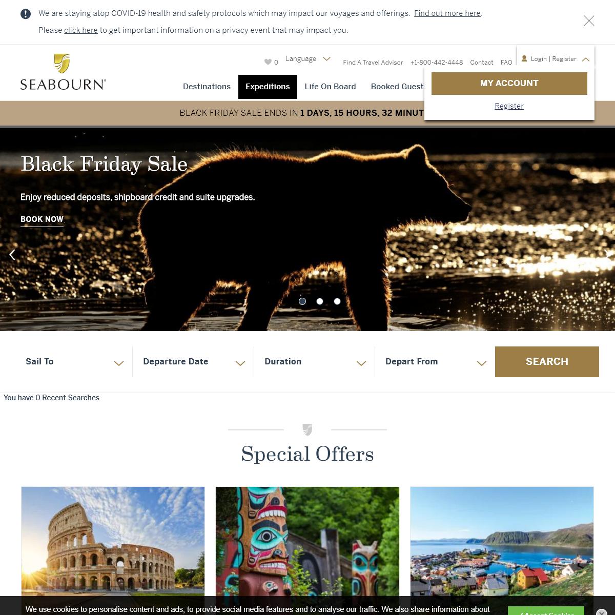 Luxury Cruises & Luxury Cruise Vacations - Seabourn