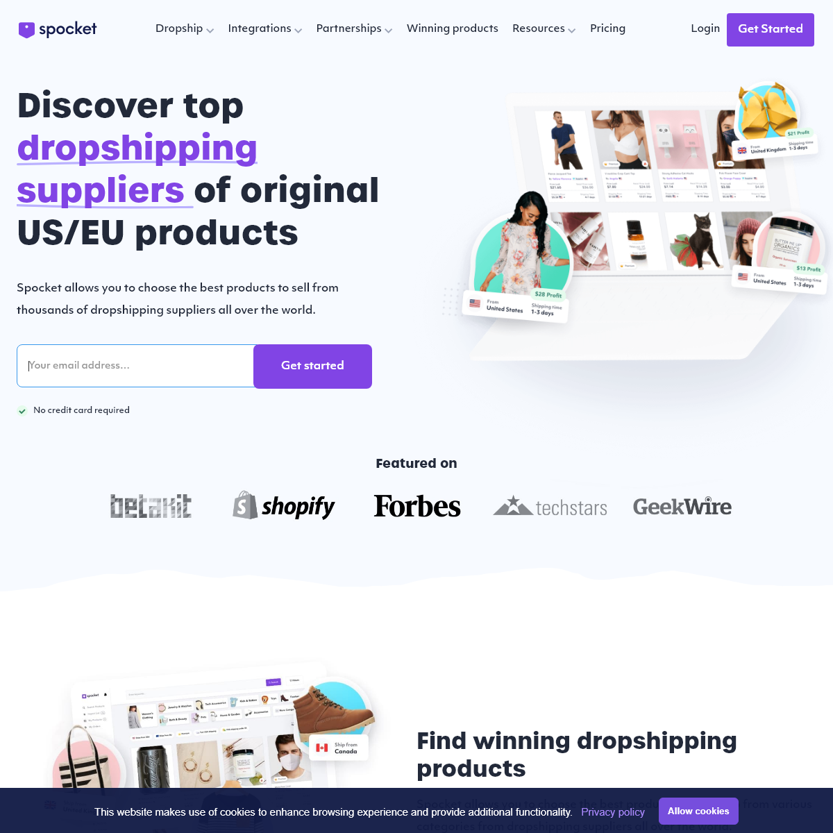Best Dropshipping Suppliers for US + EU Products - Spocket