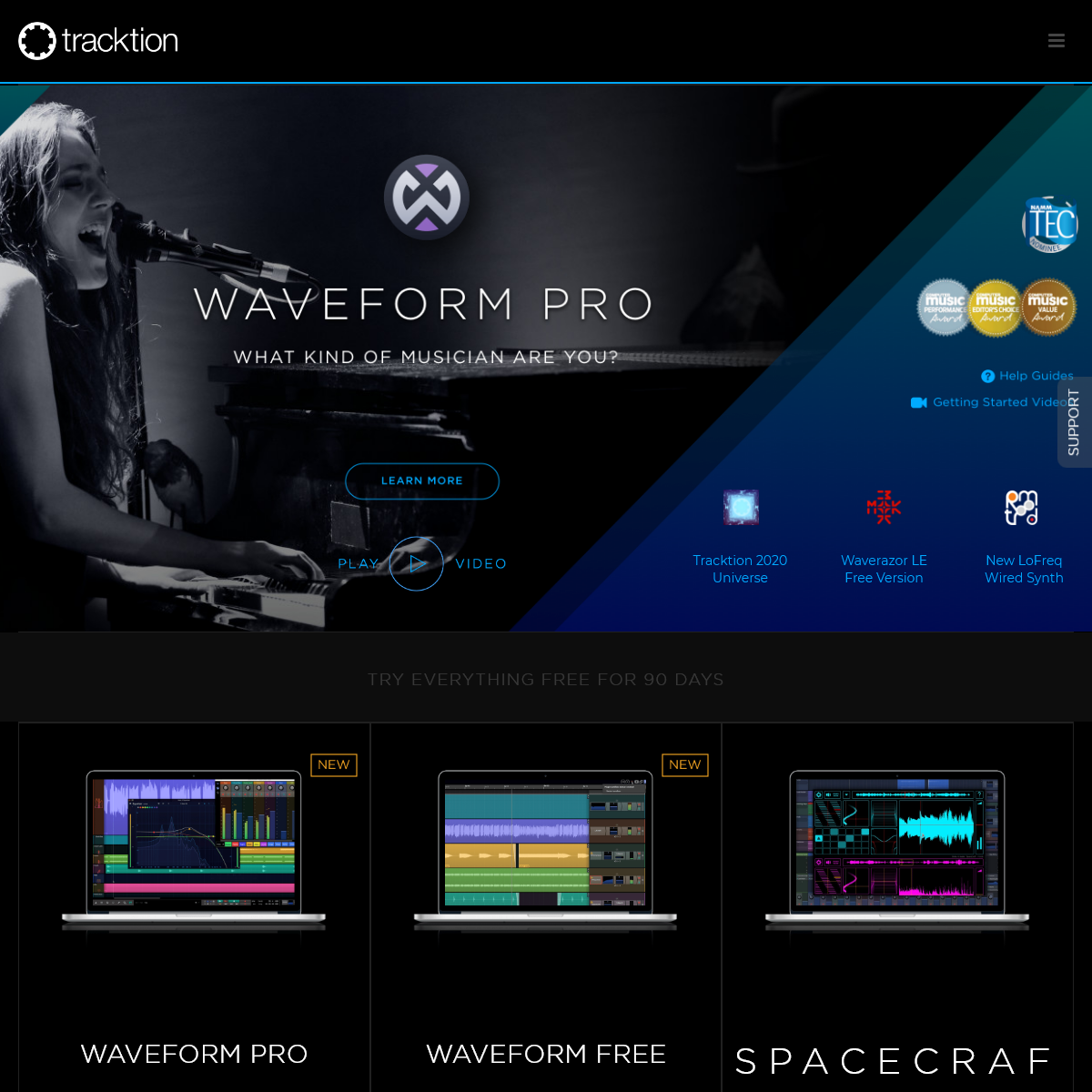 Tracktion Music Production Technology - audio editing, virtual instruments, plugins & hardware