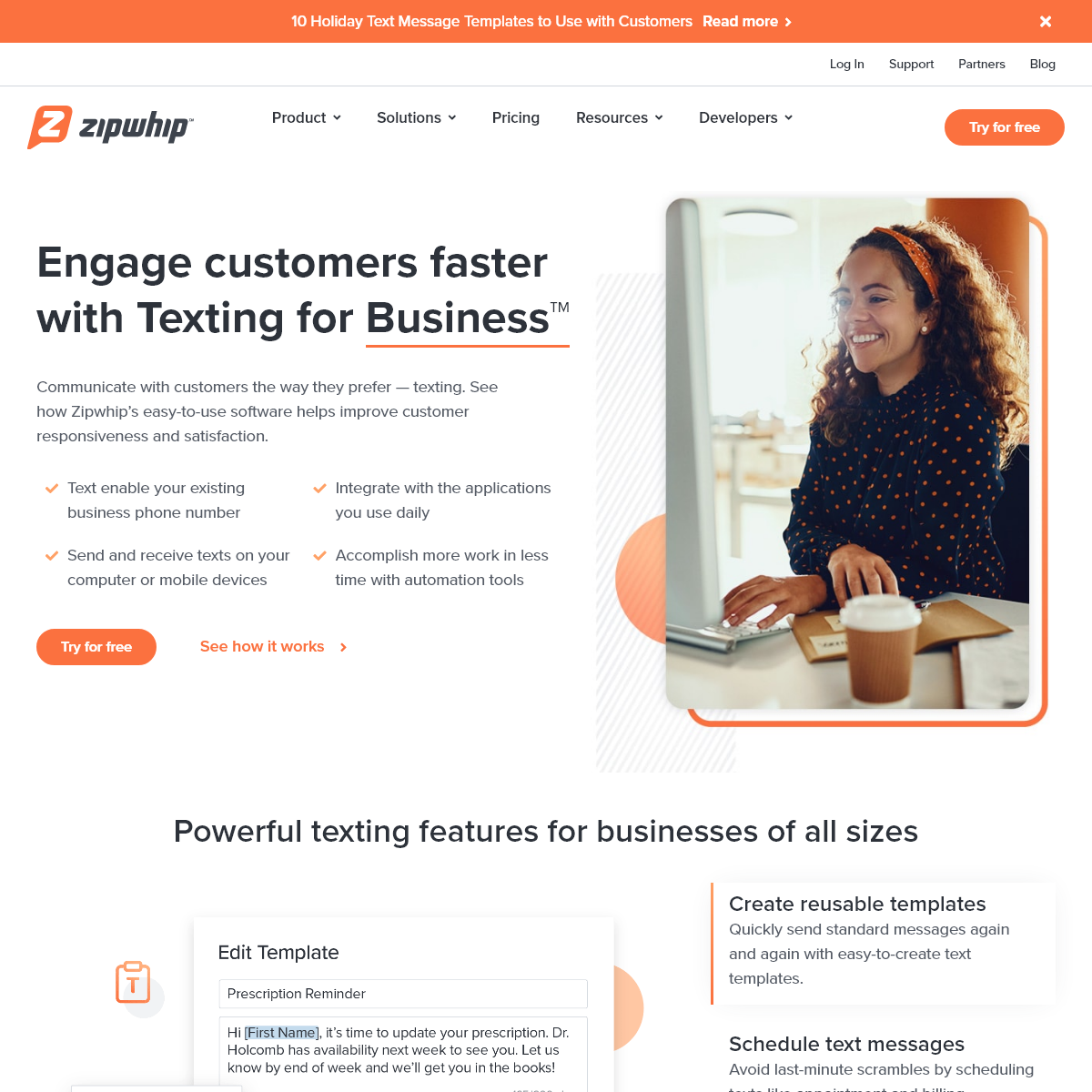 Zipwhip- Business Text Messaging Software - Text From Your Computer