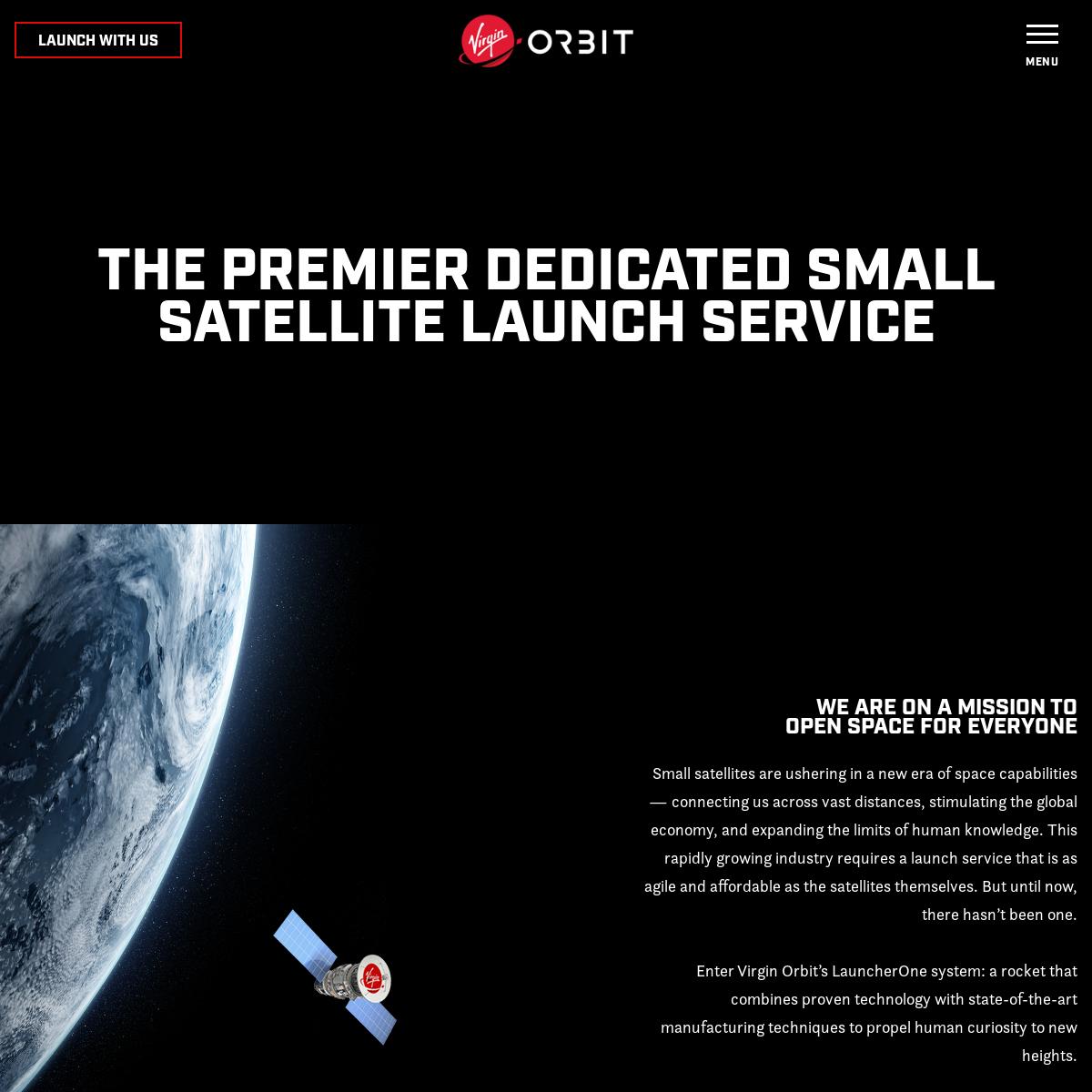 Virgin Orbit - Premier Satellite Launch Service