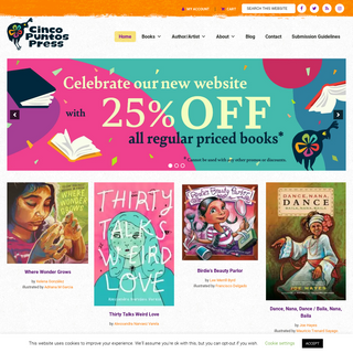 Cinco Puntos Press - With roots on the U.S.-Mexico border, Cinco Puntos Press publishes great books which make a difference in t
