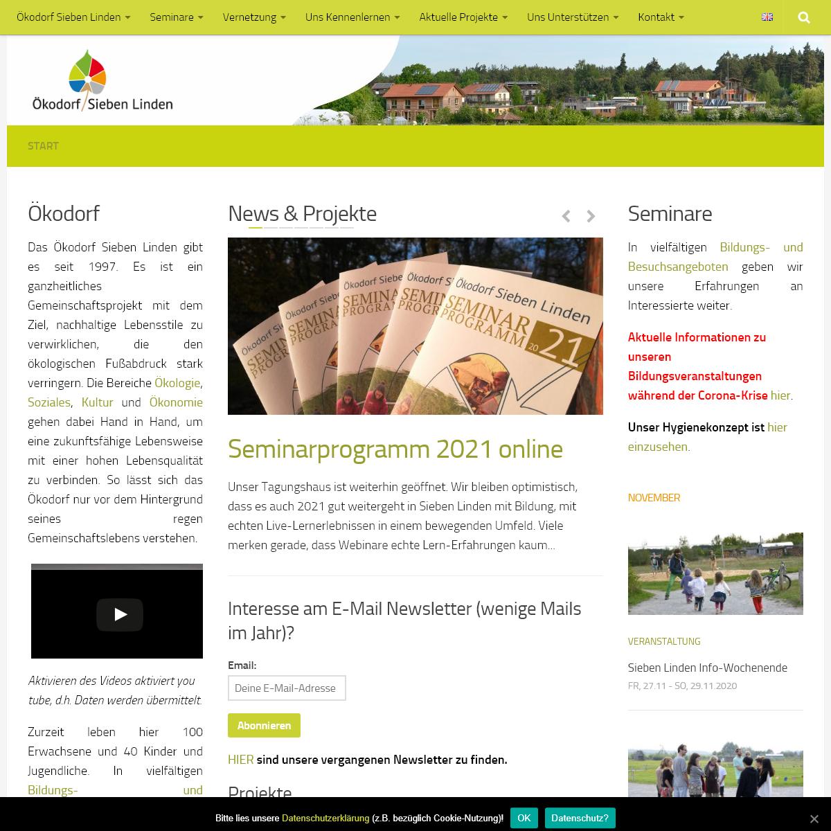 Start - Ökodorf Sieben Linden