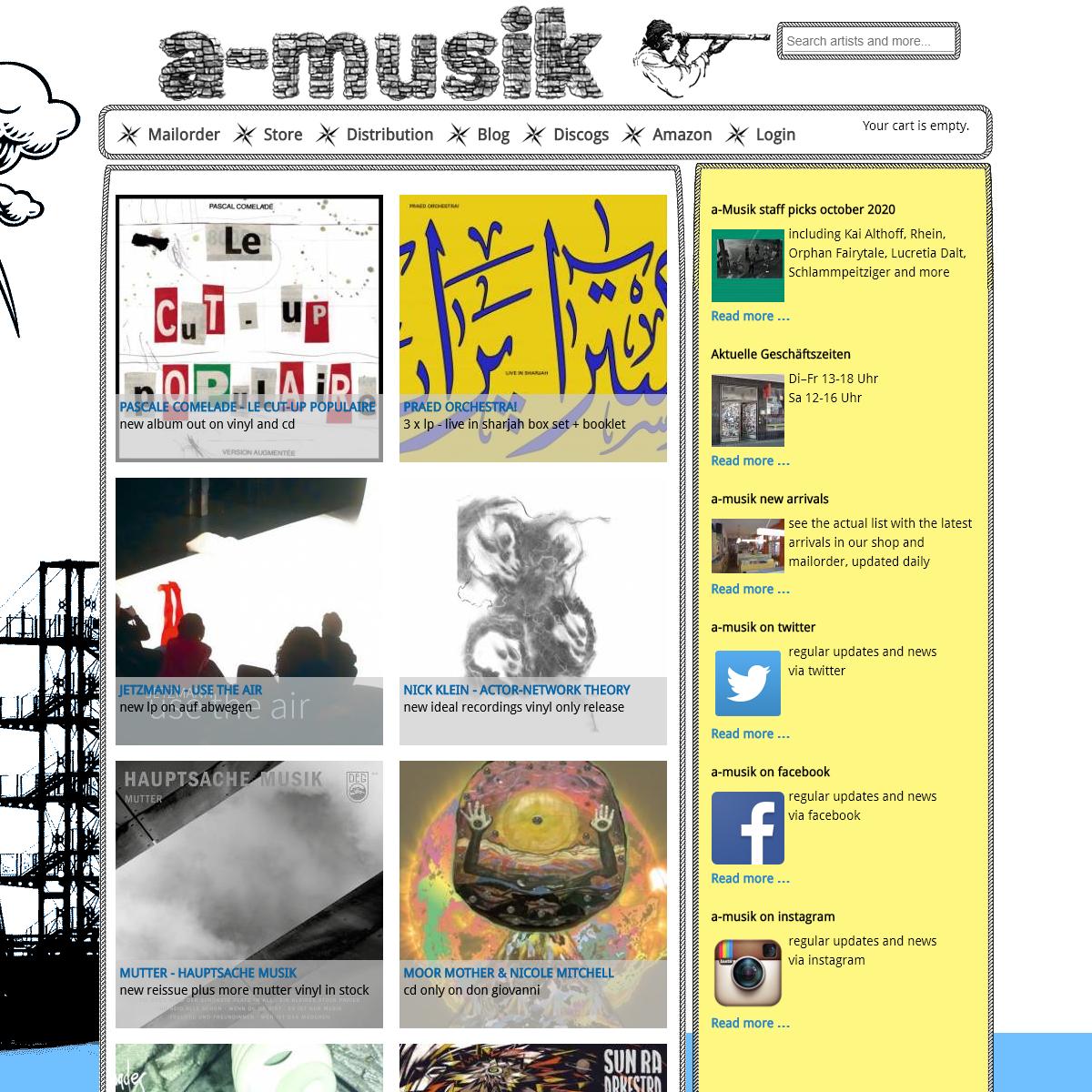 a-musik- mailorder, distribution, recordshop, label - a-musik