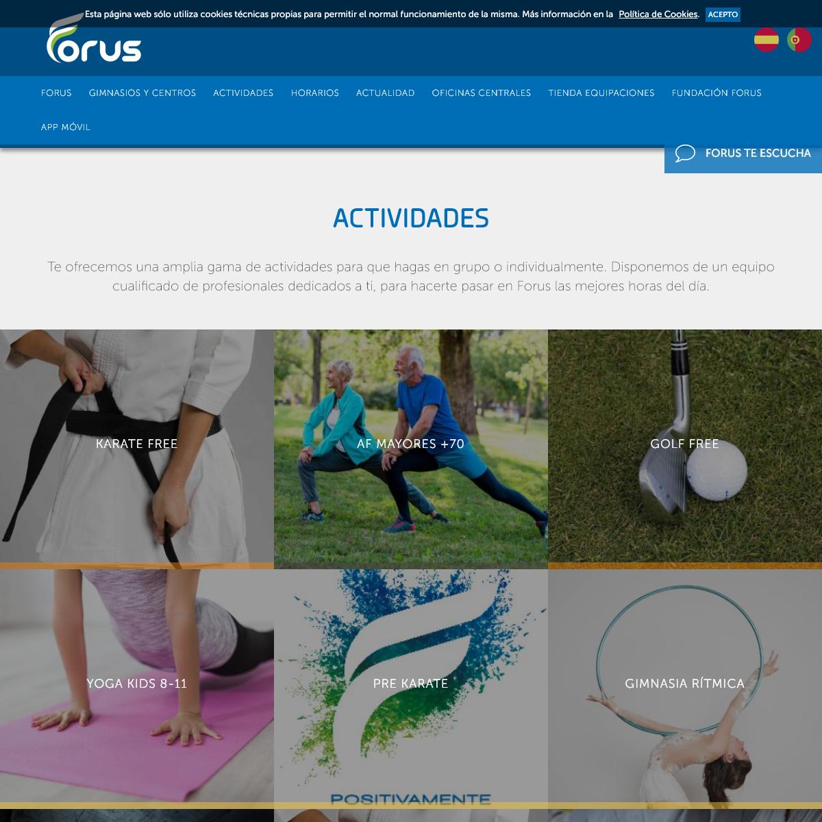 Gimnasios Forus- conoce nuestros centros, actividades y horarios - Forus