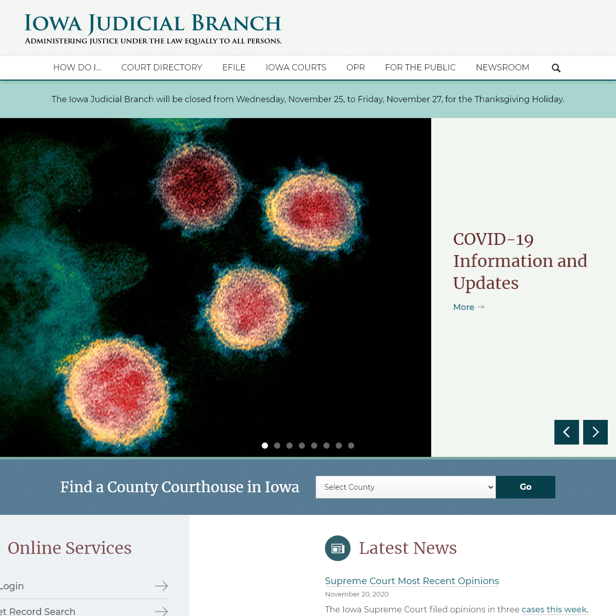 Administering Justice Under Law Equally To All Persons - Iowa Judicial Branch