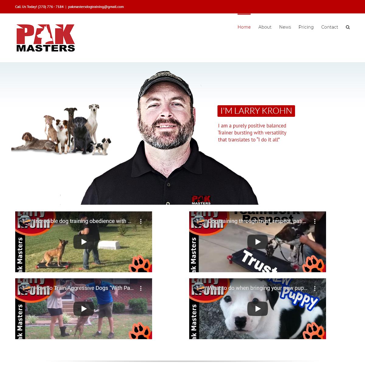 Dog Training Bowling Green, KY, Nashville , TN, - PakMasters