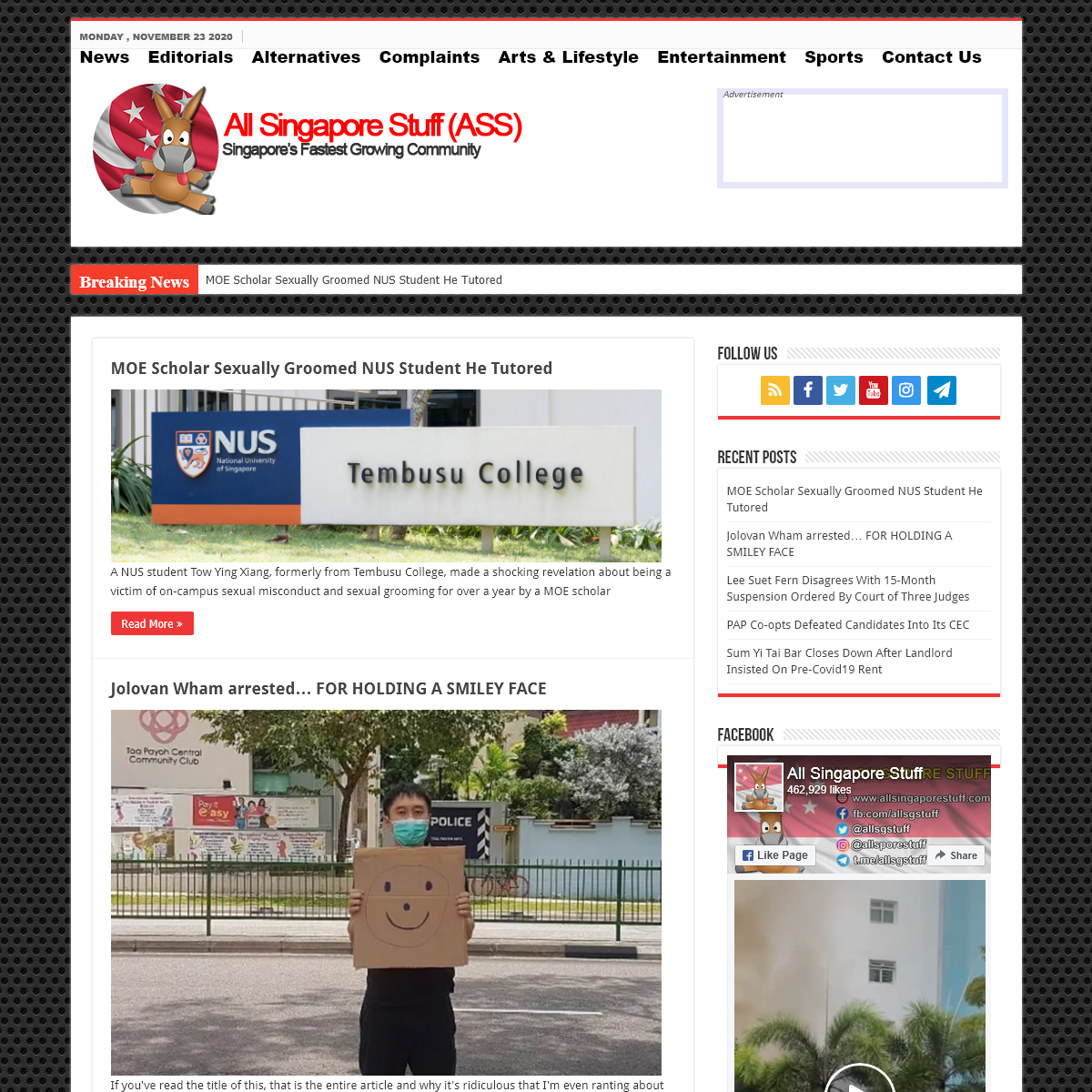 All Singapore Stuff – Real Singapore News – From Tuas to Changi, All Singapore Stuff brings you Real Singapore News!