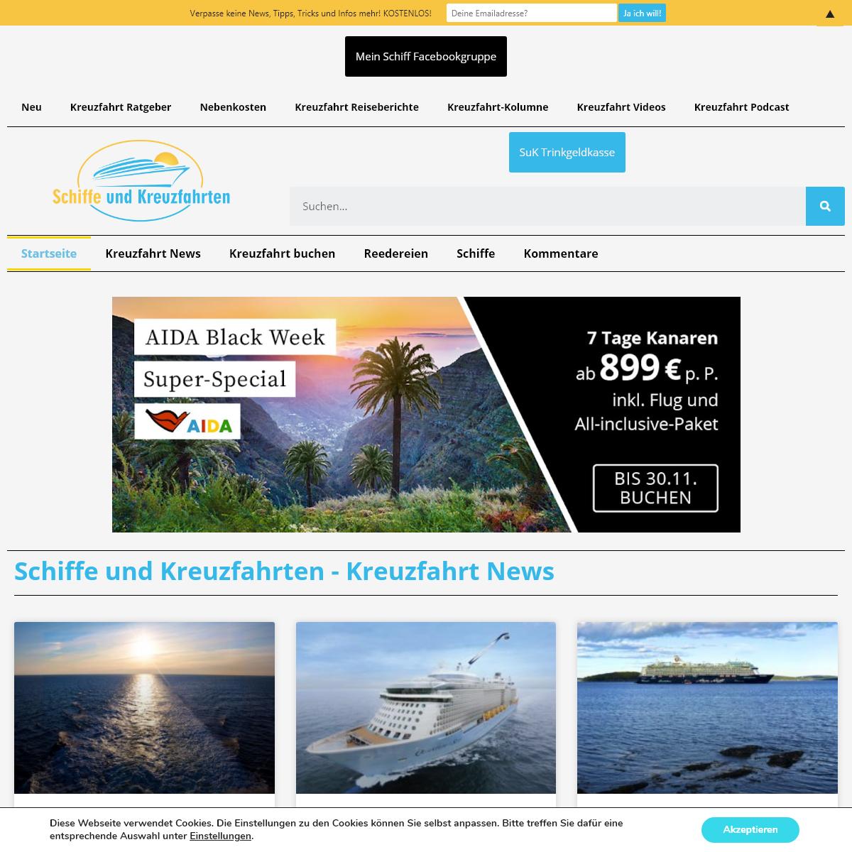 Schiffe und Kreuzfahrten - Das Kreuzfahrt Blog mit News & Infos aus November 2020 ⚓