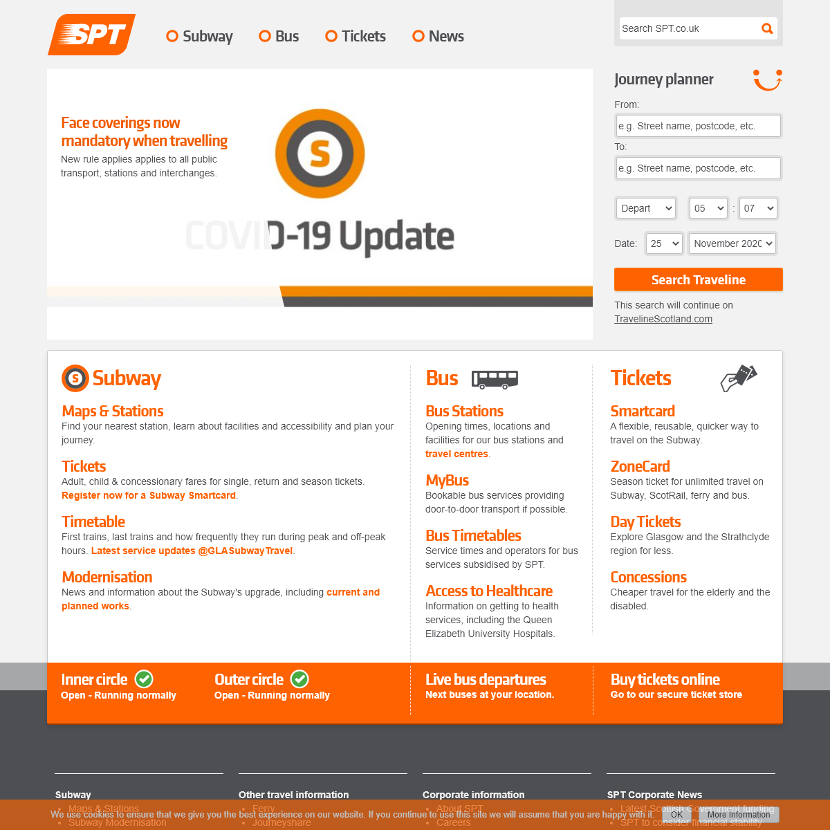 SPT - Glasgow Subway, Bus and Ticket information