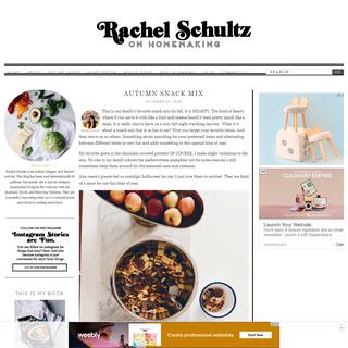 Rachel Schultz - On Homemaking