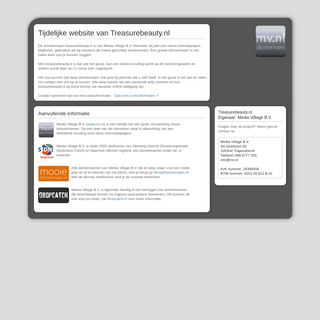 Dit is Treasurebeauty.nl (tijdelijk)