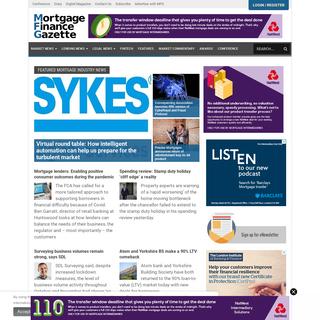 Mortgage Finance Gazette- Lending News for Mortgage Professionals