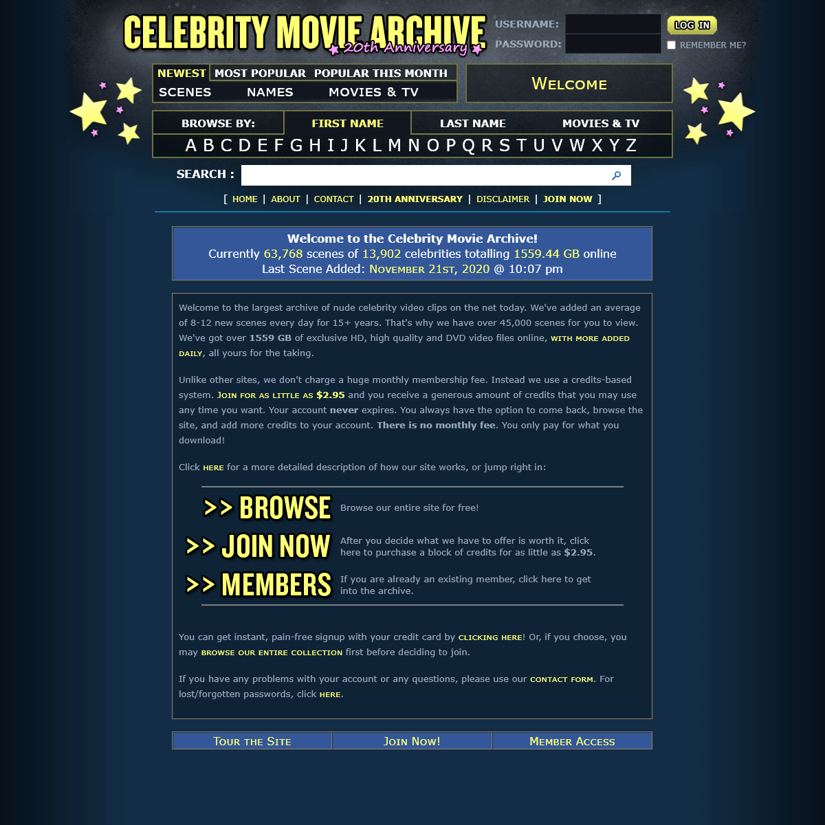 www.celebritymoviearchive.com - Archived 2021-06-13