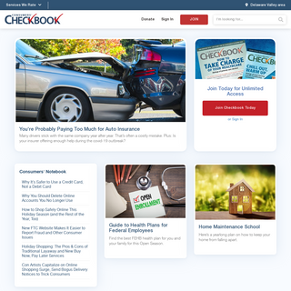 Delaware Valley Consumers` Checkbook - Unbiased Ratings and Advice