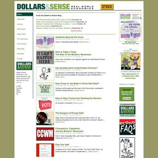 Dollars and Sense- Real World Economics
