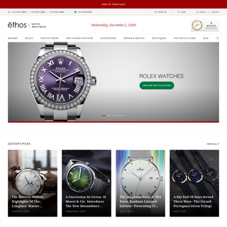 Ethos Watch Boutiques – India's Largest & Most Trusted Luxury Watch Retailer