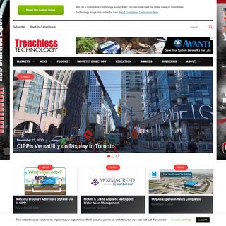 Trenchless Technology Magazine - Trenchless Installation & Rehabilitation