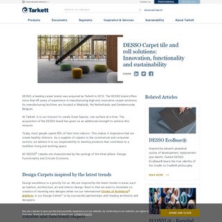 DESSO Carpet rolls and tiles - Tarkett - Tarkett