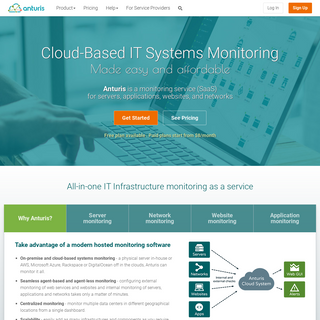 Cloud-based Monitoring Service for Servers, Networks, Websites and Web Services, SaaS Monitoring - Anturis