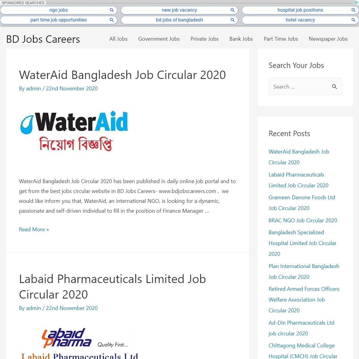 BD Jobs Circular Website in Bangladesh-Government, Bank, Private Jobs.