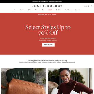 Leatherology®- Personalized Leather Gifts - Wallets, Padfolios & more